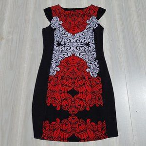 I LF Red and Whit Bodycon dress with side zipper